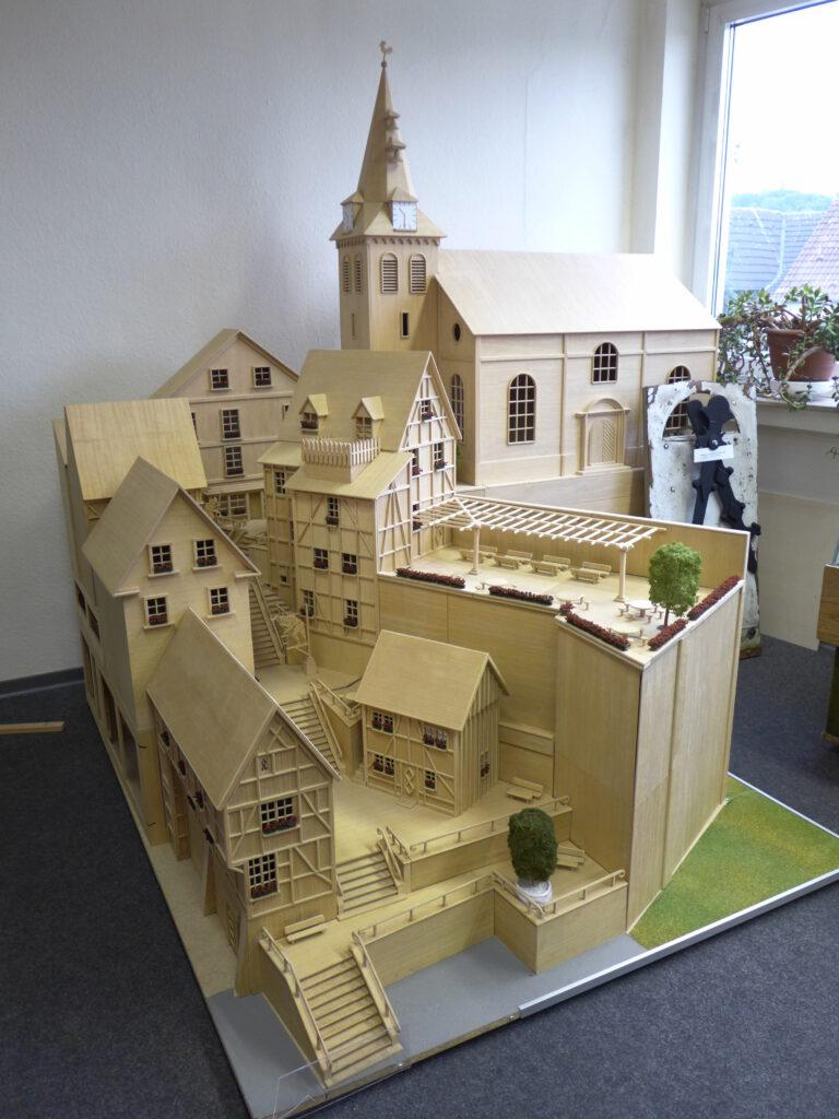Modell der Kirchtreppe von Waldemar Igelbusch