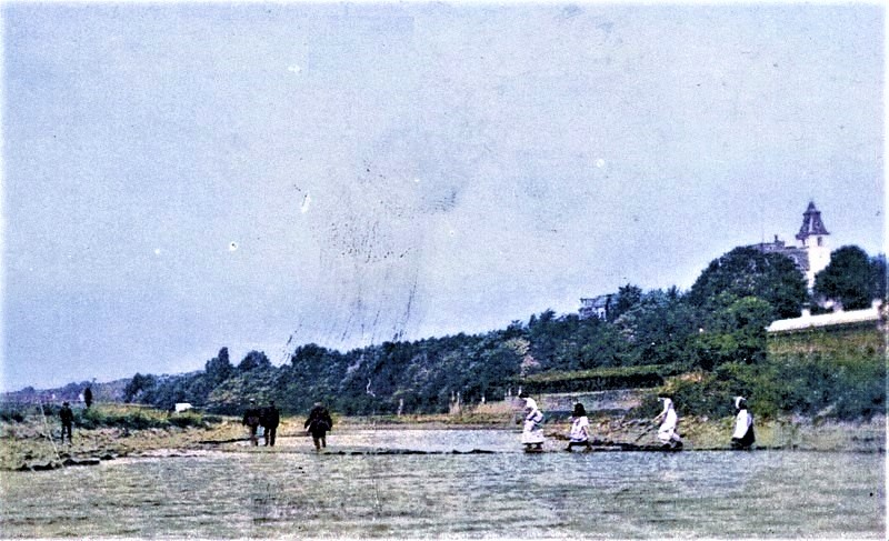1901: Niedrigwasser auf der Ruhr
