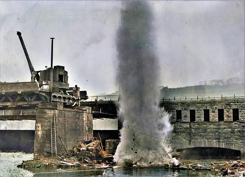 1949: Sprengarbeiten